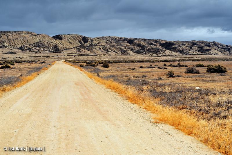 Soda Lake Road, Carrizo Plain National Monument, November 2008.