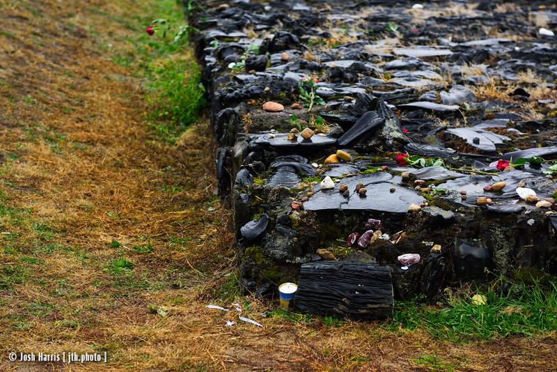 Monument Representing Site of Burning Pit, Treblinka Extermination Camp, Poland, October 2018.