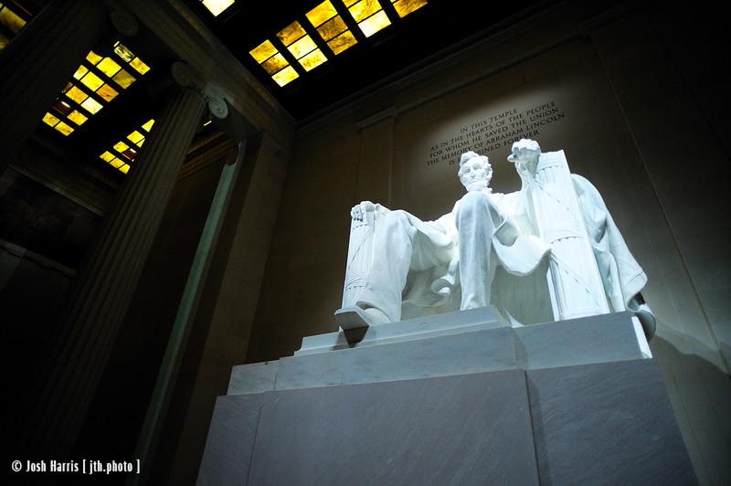 Lincoln Memorial, Washington, October 2009.