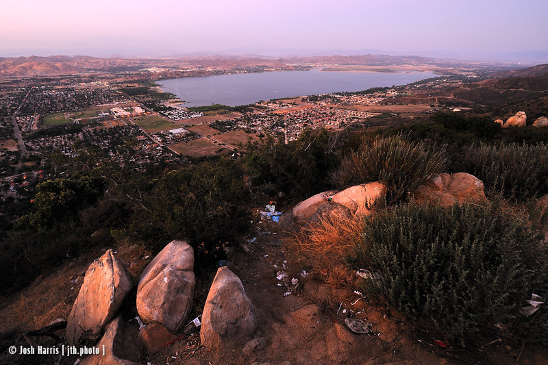 View of Lake Elsinore from Highway 74, July 2011.