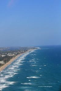 View of coastline heading North