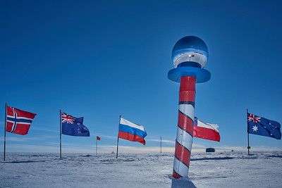 Ceremonial South Pole Marker