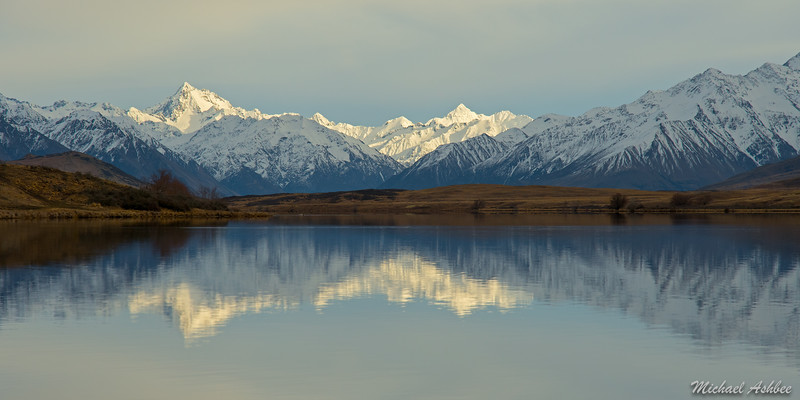 Mt.D'archiac reflecting in Lake Clearwater