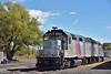 SLRG EMD GP40 Nos.4142 / 4138 parked at Alamosa