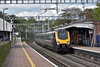 1O84  the 07.25 Cross Country service from Newcastle to Southampton Central speeds through Pangbourne formed as usual by an unidentifiable Voyager set.<br /> <br /> 25 April 2017