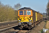 GBRf ED's 73963/73964 approach Hersham in glorious afternoon sunshine as they return with 1Q53 from Wimbledon to Eastleigh<br /> <br /> 15 March 2017