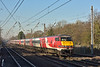 Speeding through Welham Green DVT 82208 leads 1A28 the 11.45 from Leeds to London Kings Cross<br /> <br /> 29 December 2016