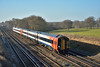 159020 speeds past Trotters Lane with 1L40 10.25 service from  Exeter St Davids to London Waterloo<br /> <br /> 5 January 2017