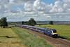 At last a sunny patch at Exminster as 1C84  the 14.07  Paddington to Penzance HST passes with power car 43189 in the lead and 43183 at the rear.<br /> <br /> 4 August 2016