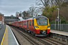 New SWT Desiro City units 707004 / 707006 draw to a halt at Virginia Water working 5Q35 instruction/familiarisation diagram from Staines Up Loop to Reading<br /> <br /> 14 March 2017