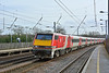 LNER branded 91104 speeds through Welham Green in charge of 1D15 the 13.03 service from Kings Cross to Leeds<br /> <br /> 12 February 2019