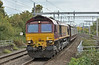 66164 passes Pangbourne  on the Down Relief working  6M48 with car carriers from  Southampton Eastern Docks to Halewood (Jaguar Cars)<br /> <br /> 11 October 2018