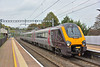 220018  speeds through Pangbourne working 1V85 the 07.00 Cross Country service from  Edinburgh to Reading<br /> <br /> 11 October 2018