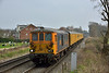 GBRf Super ED's 73963 /73964 pass Chertsey Meads  with Network Rail test train working 1Q54  from Eastleigh Arlington to Dollands Moor Sidings<br /> <br /> 16 March 2017