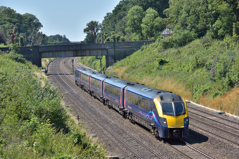 Adelante 180104 glides through Sonning with 1P45 the 13.01 service from Oxford to Paddington<br /> <br /> 19 July 2016
