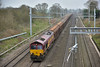 66047  thunders past Southbury Lane with  its usual rake of cargowagons working  6V47  from Tilbury I.R.F.T to Trostre Works<br /> <br /> 16 March 2017
