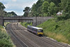 165103 passes beneath  Butts Hill Road bridgeas it drones through Sonning with 2P46 11.07 sefvice from  Oxford to Paddington<br /> <br /> 5 July 2016