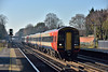 159019  races past West Byfleet with 1L36 09.25 service from  Exeter St Davids to London Waterloo<br /> Fortunately the low winter sun offset the distinct chill in the air.<br /> <br /> 1 December 2016