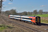 159007 races past Potbridge with 1L42 12.47 from Salisbury to London Waterloo<br /> <br /> 15 March 2017