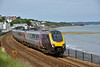 Cross Country Class 221 'Voyager' No.221119  passes Dawlish with 1V54 06.32 from Dundee to Plymouth<br /> <br /> 6 July 2016