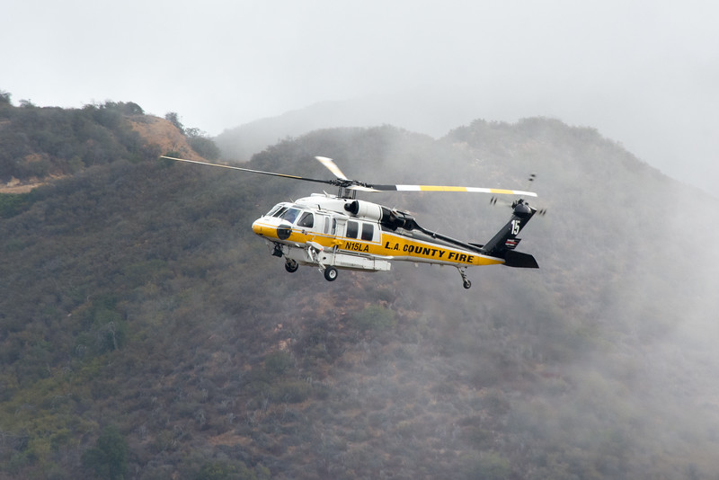 10/16/16: Vehicle over the Side, Corral Canyon Road, 4 Miles north of PCH (Malibu), Single Vehicle with Elderly Femaie approximately 100 feet over the side. The victim was disoriented and had been over an unknown duration. Engine 71 sent firefighters down to the victim and prepared the victim for a hoist. Copter 15 hoisted victim to trauma center.