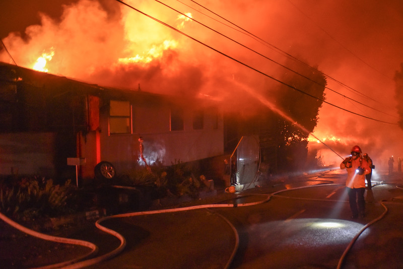 Numerous full involved structures in the 1100 blk of Tigertail Ave (Brentwood) at approximately 0550 hrs on 10/28/19