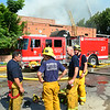 Orange Incident (LAFD) : 7/13/14: *Major Emergency Structure Fire* 1001 N Orange Dr x Romaine St (Hollywood-27s), 1 story pre 1933 industrial building approximately 30,000sf (plating company) with heavy fire.  Quickly shifted to a defensive mode after an initial offensive attack. Time of Alarm 0858, Knockdown at 1100 hrs.