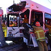 Lakewood Incident (LACoFD) : 6/10/15: *Traffic Collision Involving Bus*, Centralia St & Woodruff Ave (Lakewood), Long Beach Transit Bus was involved in a traffic collision and struck a traffic signal. The bus driver's legs were trapped resulting in an extended extrication by first alarm units and USAR Taskforce 103. Total of 5 patients transported to local hospitals. Time of Alarm: 6:11pm.  Extrication Completed at approx: 20:15 hours. Units assigned: BC9 E103 E 122 E45 E94 EST94 HR103 INFO3 Q45 RT103 S30 S31 S45 S98 USR103