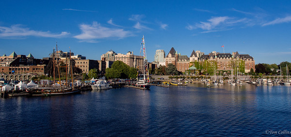 View of Victoria, BC from the Coho Ferry