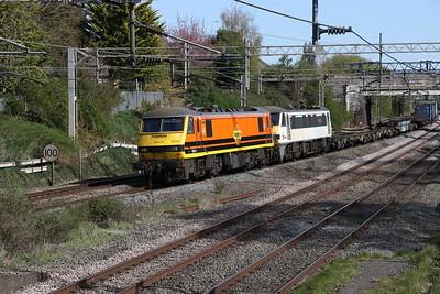 90044 + 90006 Castlethorpe 23 April 2021