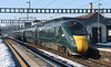 2 February 2019. 802011 Sir Joshua Reynolds PRA + 802022 passes Didcot at caution with the 1L55 1129 Swansea - Paddington.