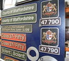 22 July 2017. A selection of nameplates, numberplates and crests which were auctioned at the open day.