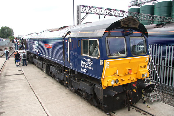 21 July 2018. 66421 was named Gresty Bridge TMD at the event.