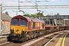 7 July 2018. 66024 passes Wolverton on the rear of the 6R02 1457 Bescot - Wembley Central.
