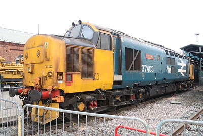 21 July 2018. The superb work stained 37403 Isle of Mull. She is another loco to have carried three names. 37403 was originally Isle of Mull before becoming Glendarroch and later Ben Cruachan. After almost rotting away in a derelict state at Margam in South Wales, salvation came and on completion of a return to traffic, she regained her original name.
