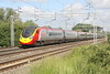 3 June 2017. Last built Pendolino 390157 Chad Varah speeds past Bradwell with the 1M06 0540 Glasgow Central - Euston.
