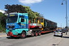 22 June 2018. Vehicle 57265 from GWR unit 150265 is seen reversing out of Knorr Bremse Wolverton Works via an Allelys low loader before heading back to Bristol.