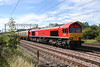 23 June 2018. 66035 Resourceful heads past Bradwell leading the 'Another Liverpool Docker' charter, the 1Z75 0640 Reading -Liverpool Bulk Terminal.