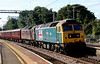 210 June 2018. Summer solstice spoons as 47580 County of Essex partners 47746 Chris Fudge 29.7.70 - 22.6.10 as the duo pass Wolverton leading 'The Lakes Express, the 1Z31 1203 Carnforth - London Victoria.