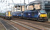 18 May 2018. The race is on and the 380 is moving the quicker ! With 380006 working the 1R22 0800 ex Glasgow Queen Street, 68007 Valiant approaches Haymarket working the 2G02 0744 Glenrothes with Thorton - Edinburgh.