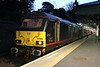 18 May 2018. 67005 Queen's Messenger awaits time at Edinburgh with the 1S25 2116 Euston - Inverness sleeper.