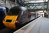 18 May 2018. Cross Country 43304 stands at Edinburgh with the 1V50 0606 Edinburgh - Plymouth.