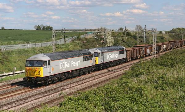 56103 + 56091 Castlethorpe 12 May 2019.