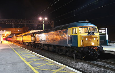 27 October 2018. With 1733 having run round, the former XP64 loco double heads with D1924 (47810) Crewe Diesel Depot at MK with the Lord of the Isles charter, the 1Z22 0525 MK - Inverness. Arrival into the Highland capital was not to be until 2006, a mere fourteen and three quarters of an hour later.