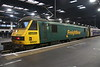 15 September 2018. Back in action after a prolonged stay out of use at Leeds Midland Road, 90041 stands on the block at Euston having arrived with the 1M11 2340 ex Glasgow Central Caledonian Sleeper service.