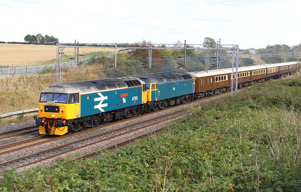 47593 + 47614 Castlethorpe 8 September 2019