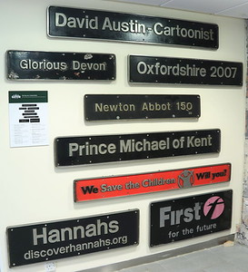GWR HST nameplates STEAM Swindon 5 September 2019
