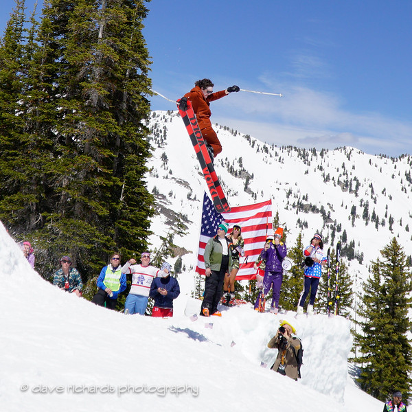 tail grab at the Frank World Classic during the 2017 Alta closing day festivities (Photo by Dave Richards, daverphoto.com)