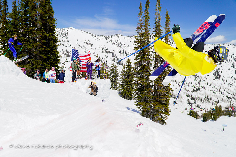double trouble airtime at the Frank World Classic during the 2017 Alta closing day festivities (Photo by Dave Richards, daverphoto.com)