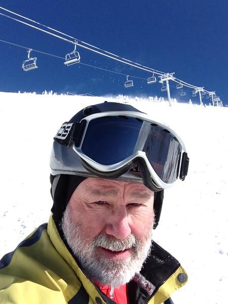 Cold, windy day at the 'Bird - primo windblown snow on Regulator Johnson